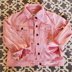LLBean Pink Denim Jacket Sz. XS